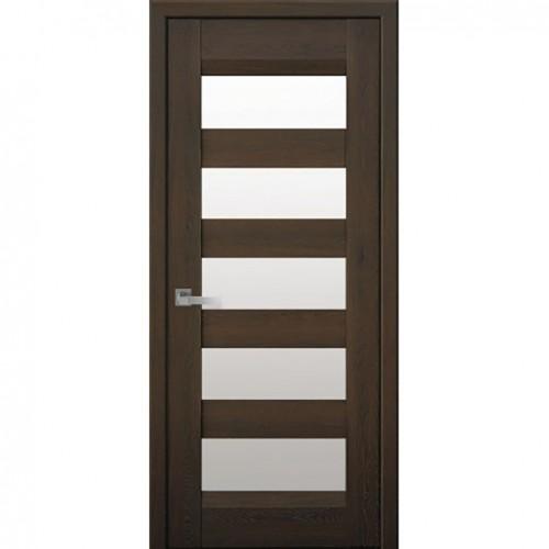 Межкомнатная дверь Бронкс Дуб Шоколадный (Nano Flex)