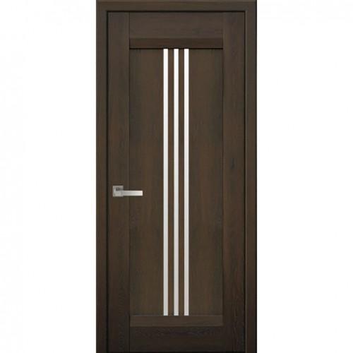 Межкомнатная дверь Рейс Дуб Шоколадный (Nano Flex)