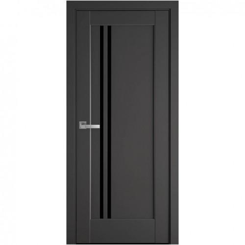 Межкомнатная дверь Делла со стеклом BLK (ПП Премиум)