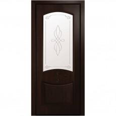 Межкомнатная дверь Донна Р1 со стеклом сатин (ПВХ Deluxe)