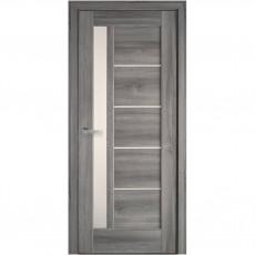 Межкомнатная дверь Грета со стеклом сатин (ПВХ DeLuxe)