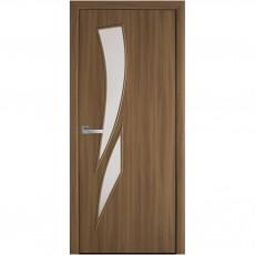 Межкомнатная дверь Камея со стеклом сатин (без рисунка) (Экошпон)