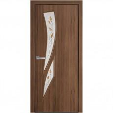Межкомнатная дверь Камея со стеклом сатин Р1 (ПВХ Deluxe)