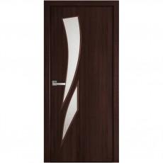 Межкомнатная дверь Камея со стеклом сатин Р3 (ПВХ DeLuxe)