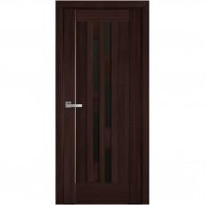 Межкомнатная дверь Лаура со стеклом BLK (ПВХ DeLuxe)
