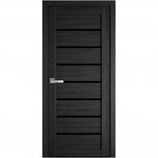Межкомнатная дверь Леона со стеклом BLK (ПВХ Ultra)