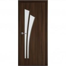 Межкомнатная дверь Лилия со стеклом сатин (Экошпон)
