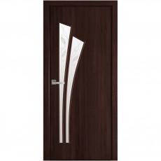 Межкомнатная дверь Лилия со стеклом сатин Р3 (ПВХ Deluxe)