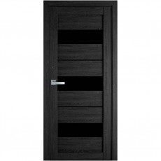 Межкомнатная дверь Лилу со стеклом BLK (ПВХ Ultra)