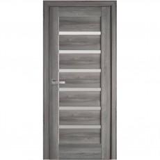 Межкомнатная дверь Линея со стеклом сатин (ПВХ DeLuxe) НОВЫЙ СТИЛЬ