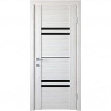 Межкомнатная дверь Мерида со стеклом BLK (ПВХ DeLuxe)