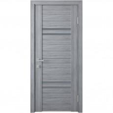 Межкомнатная дверь Мерида со стеклом графит (ПВХ Viva)