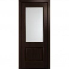 Дверь Вилла ПВХ DeLuxe со стеклом сатин и рисунком Р1