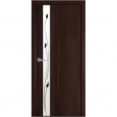 Межкомнатная дверь Злата со стеклом сатин (ПВХ DeLuxe)