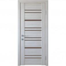 Межкомнатная дверь со стеклом графит Валенсия (ПВХ DeLuxe)