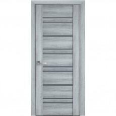 Межкомнатная дверь со стеклом графит Валенсия (ПВХ Viva)