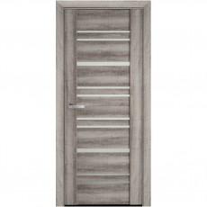 Межкомнатная дверь со стеклом сатин Валенсия (ПВХ Viva)