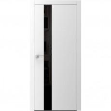 Межкомнатная дверь A3.2.S с черным стеклом ВАШИ ДВЕРИ