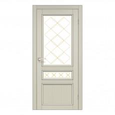 Межкомнатная дверь Korfad CL-05 стекло сатин