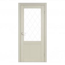 Межкомнатная дверь Korfad CL-01 стекло сатин
