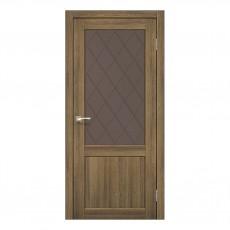 Межкомнатная дверь Korfad CL-01/2 стекло бронза