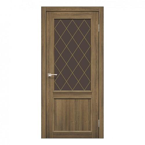 Межкомнатная дверь Korfad CL-02/2 стекло бронза
