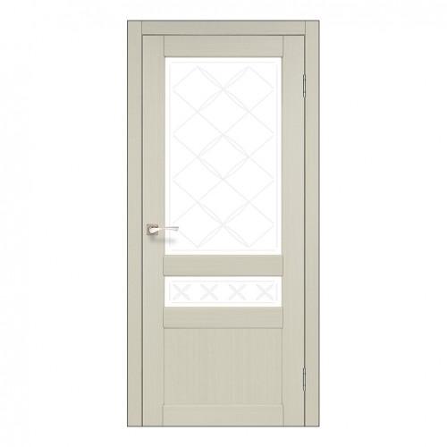 Межкомнатная дверь Korfad CL-04/1 со стеклом бронза