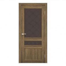 Межкомнатная дверь Korfad CL-04/2 со стеклом бронза
