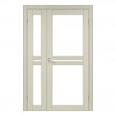 Межкомнатная дверь Korfad ML-06 двустворчатая стекло сатин