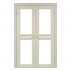 Межкомнатная дверь Korfad ML-09 двустворчатая стекло сатин