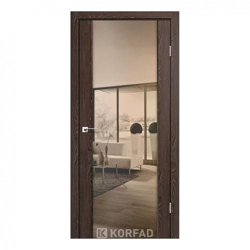 Межкомнатная дверь Korfad SR-01/1 двусторонний триплекс зеркало