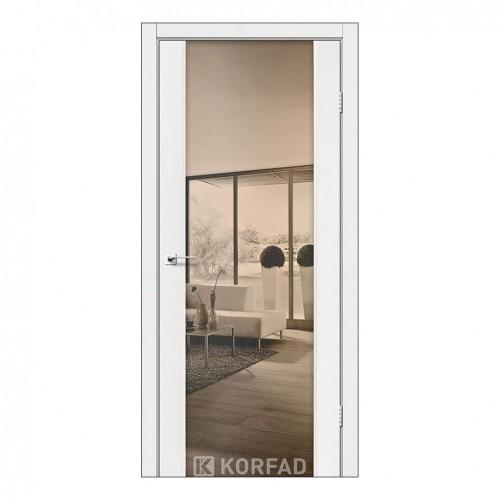 Межкомнатная дверь Korfad SR-01/2 двусторонний триплекс зеркало