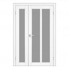 Межкомнатная дверь Korfad TR-04/2 двустворчатая со стеклом