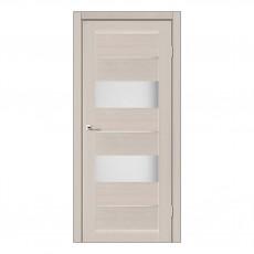 Межкомнатная дверь Canneli со стеклом (Дуб и Серое дерево)