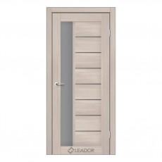 Межкомнатная дверь Lorenza со стеклом (монблан, матовый, браун)