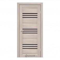 Межкомнатная дверь Sovana со стеклом (монблан, матовый, браун)