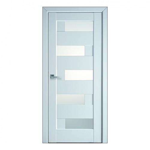 Межкомнатная дверь Пиана со стеклом сатин (ПП)