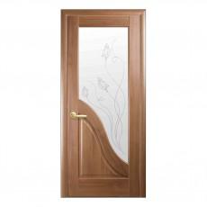 Межкомнатная дверь Амата со стеклом сатин (ПВХ)