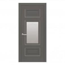 Межкомнатная дверь Шарм со стеклом сатин (молдинг)