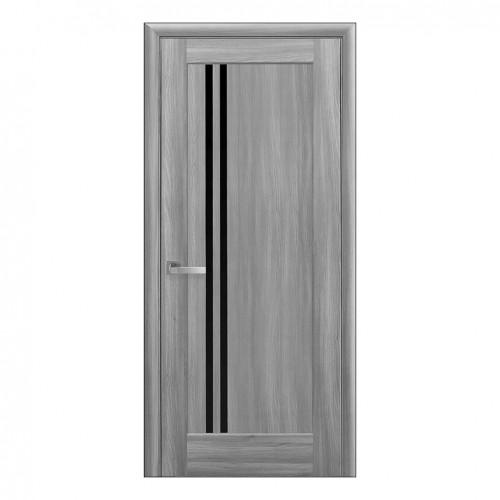Межкомнатная дверь Делла со стеклом BLK (ПВХ)