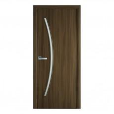 Межкомнатная дверь Дива со стеклом (ПВХ)
