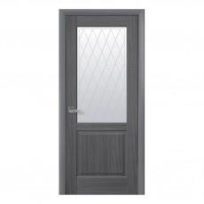 Межкомнатная дверь Эпика со стеклом сатин (ПВХ)