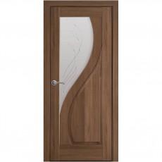 Межкомнатная дверь Эскада со стеклом сатин + Р2 (ПВХ)