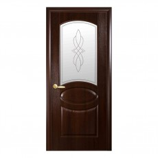 Межкомнатная дверь Овал со стеклом