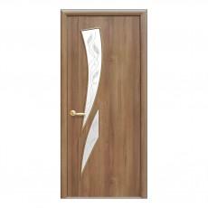 Межкомнатная дверь Камея со стеклом (с рисунком) (ПВХ)