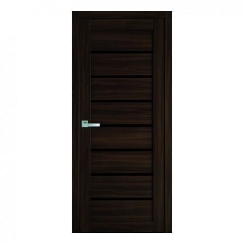 Межкомнатная дверь Леона со стеклом BLK (Экошпон)