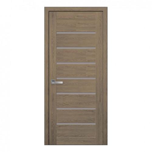 Межкомнатная дверь Леона со стеклом сатин (ПВХ)
