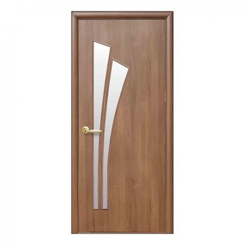 Межкомнатная дверь Лилия со стеклом (без рисунка) ПВХ