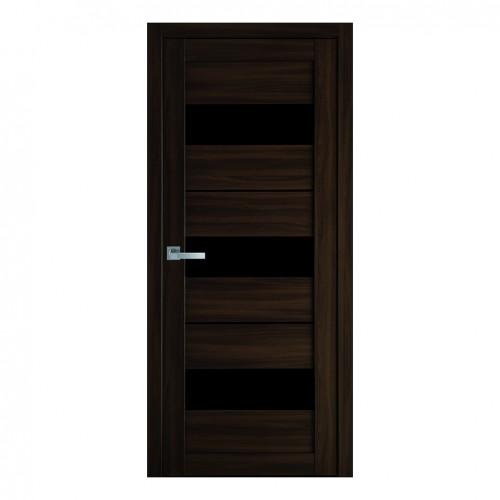 Межкомнатная дверь Лилу со стеклом BLK (Экошпон)