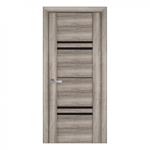 Межкомнатная дверь Мерида со стеклом BLK (ПВХ Viva)